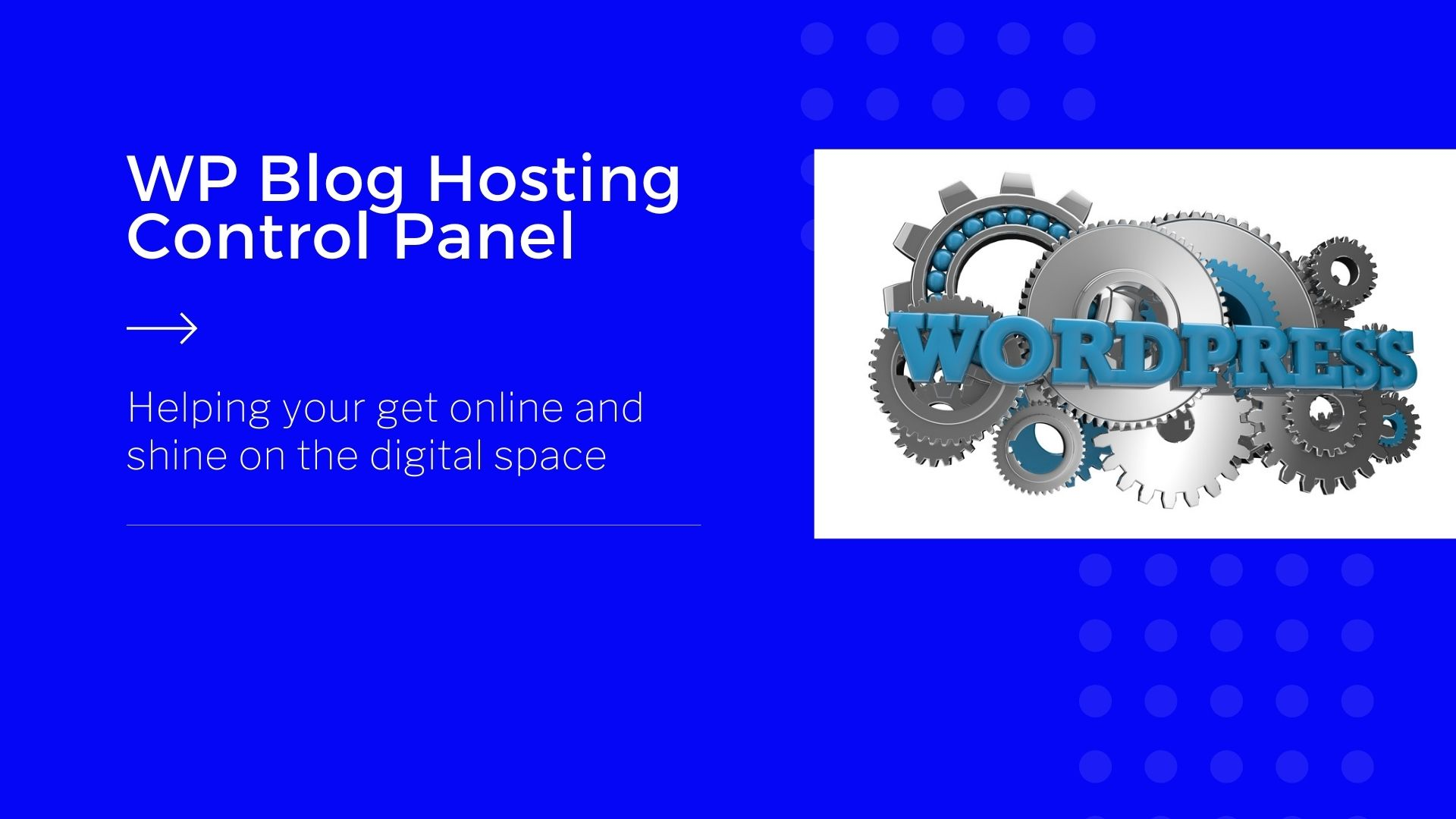 WP-Blog-Hosting-Control-Panel