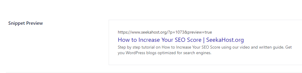 How to Increase Your SEO Score