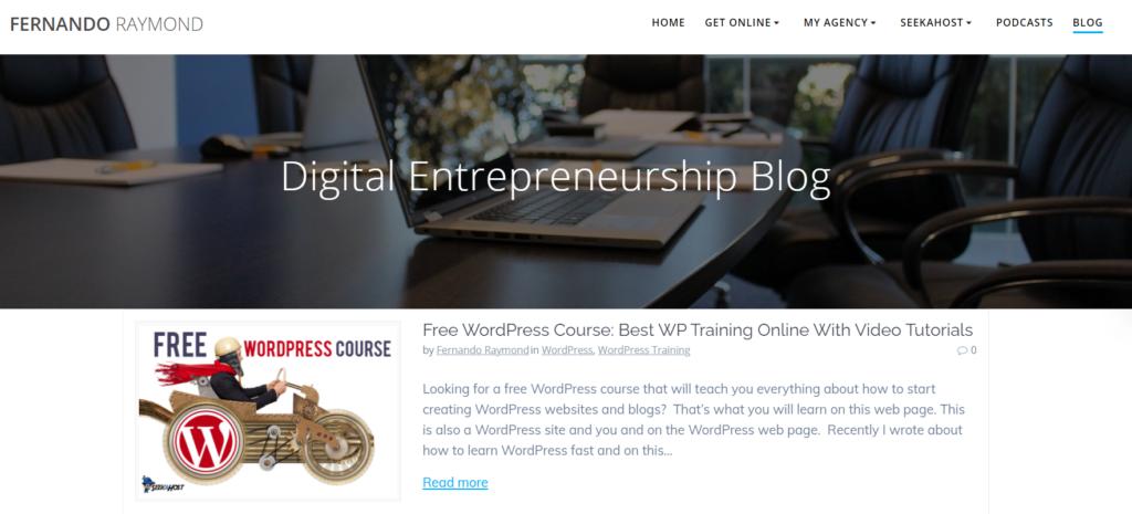 entrepreneur-wordpress-blog-with-blog-page